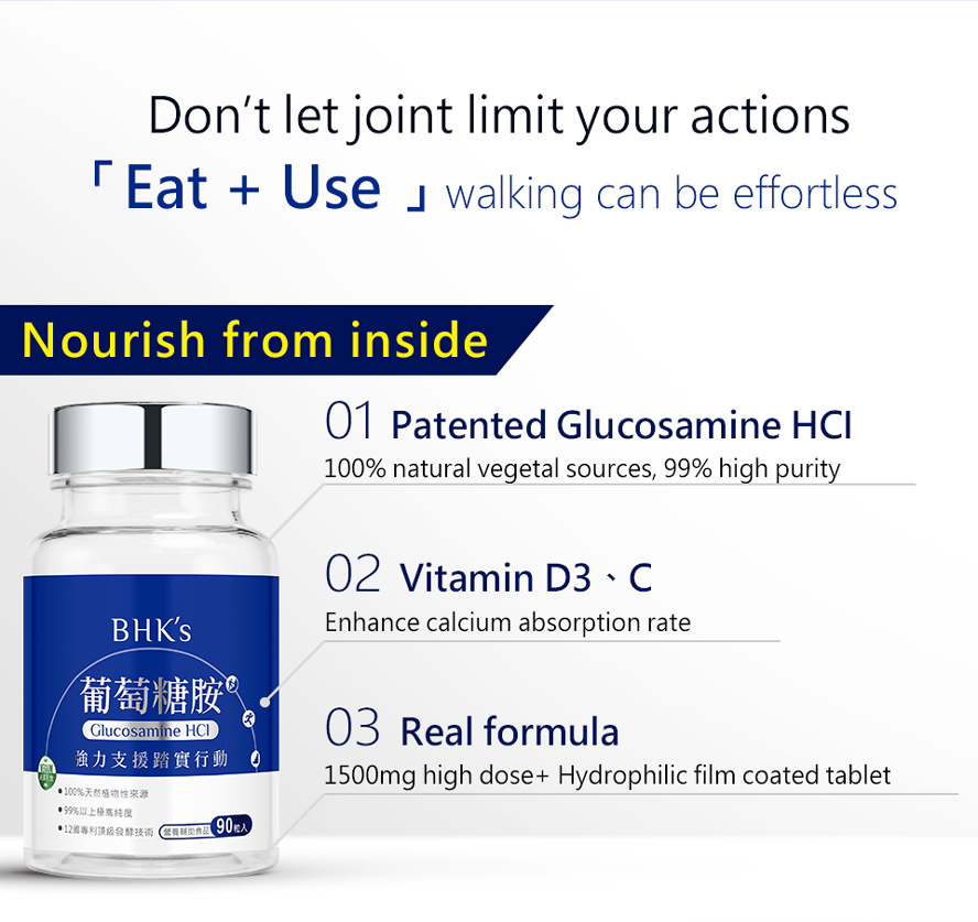 BHK's Patented Glucosamine MSM  prevent further joint damage