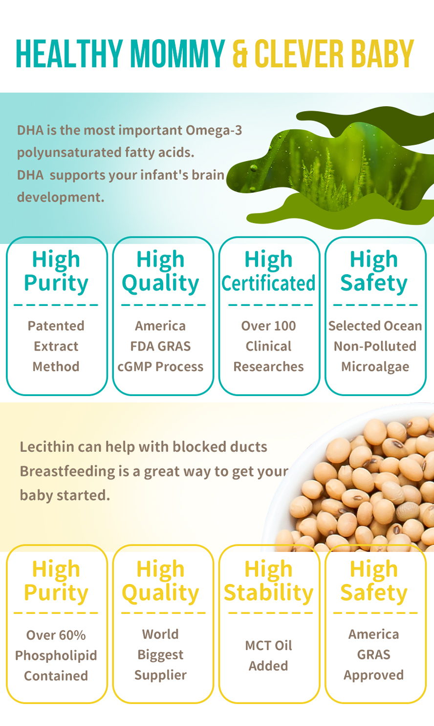 BHK's DHA Algae Lecithin  help prevent of mastitis, breastfeeding with sufficient nutrition