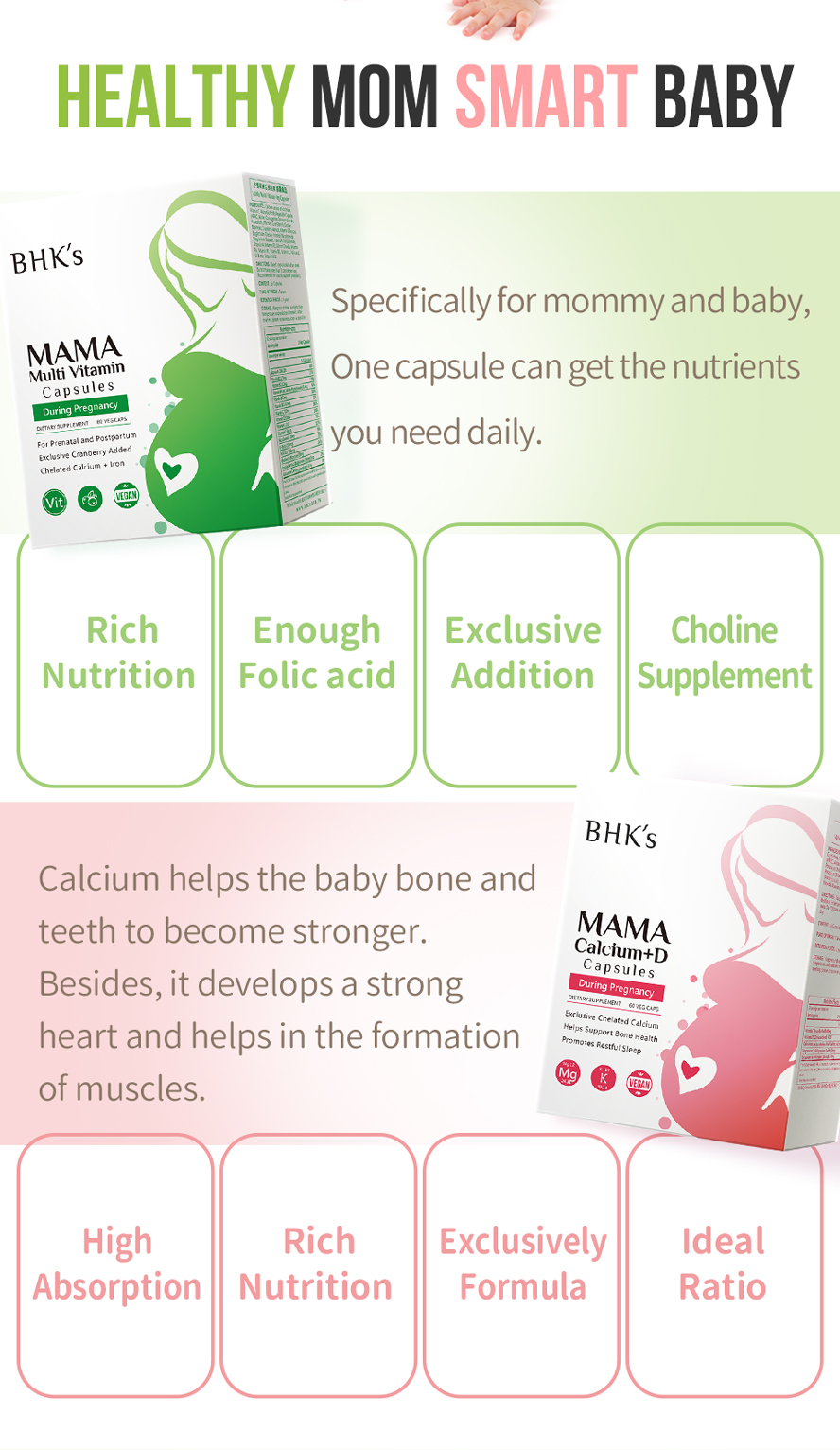 BHK's Calcium +D Multi-vitamin better absorption rate, better dosage, better nutrient ratio.