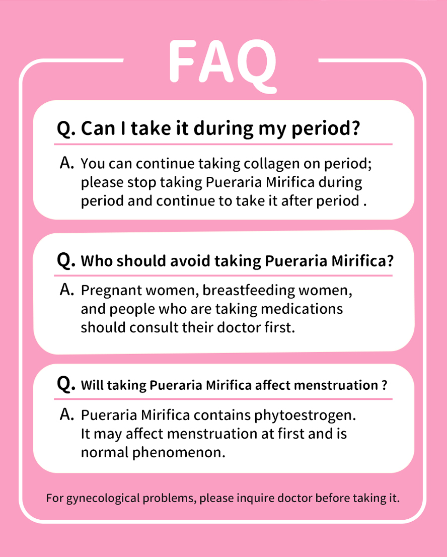 Please don't take Pueraria Mirifica on period