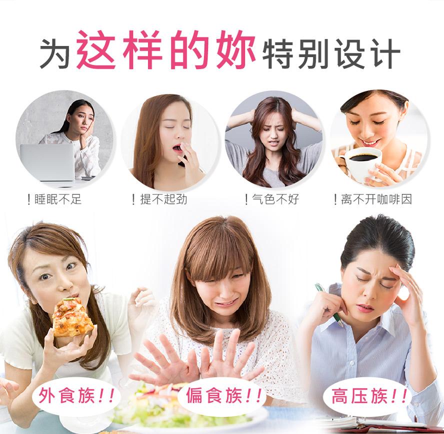 体力不支、气色不好、咖啡成瘾、外食族、睡不饱的人推荐食用BHK's维他命B群。