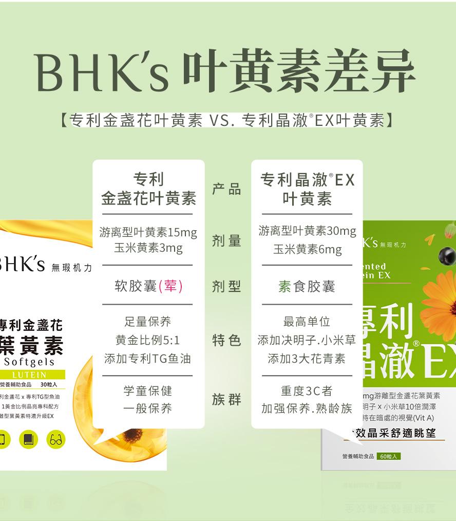 BHK's晶澈叶黄素适合重度3C使用者,BHK's叶黄素适合一般保养