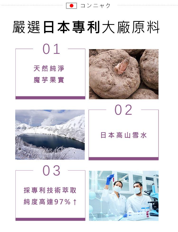 BHKs 魔芋膠囊採用日本專利大廠,最高技術萃取高濃度魔芋。