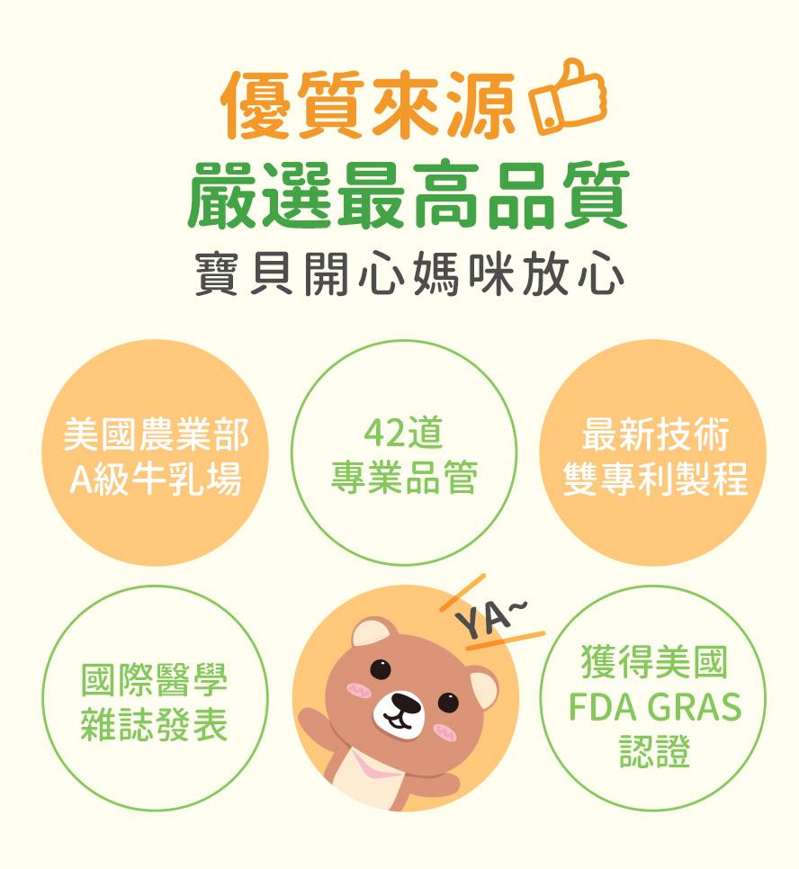BHK's初乳益生菌粉嚴選最高品質,最新技術雙專利製程,是眾多媽咪最推薦的兒童益生菌,寶寶開心媽咪安心.